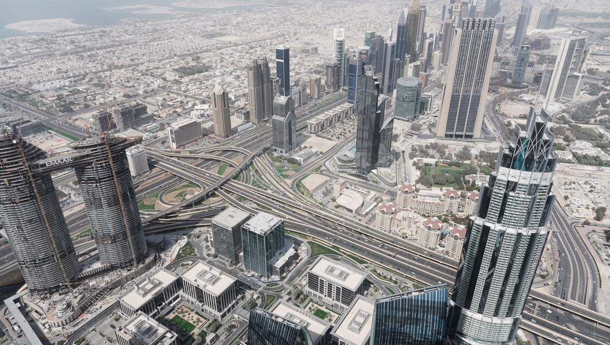 Nejvyšší budovy světa z ptačí perspektivy.
